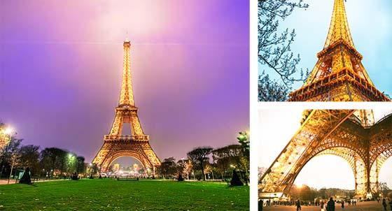 埃菲尔铁塔矗立在法国巴黎的战神广场