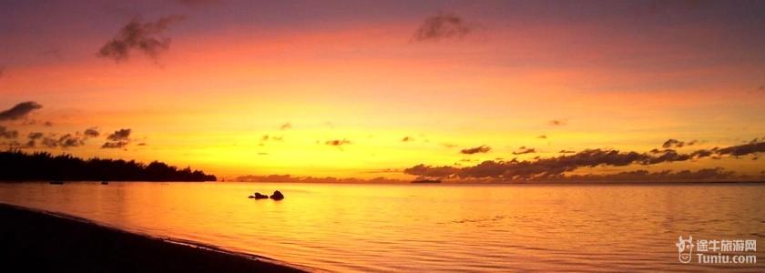 塞班岛星沙海滩