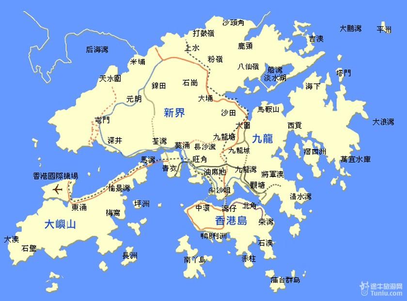 香港旅游及景点地图汇总