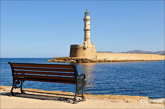 希腊克里特岛灯塔