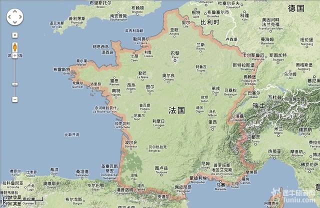 法国 地图 中文 版 全 图