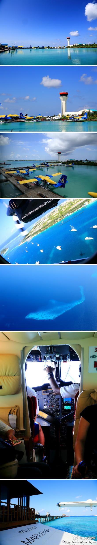马尔代夫的水上飞机